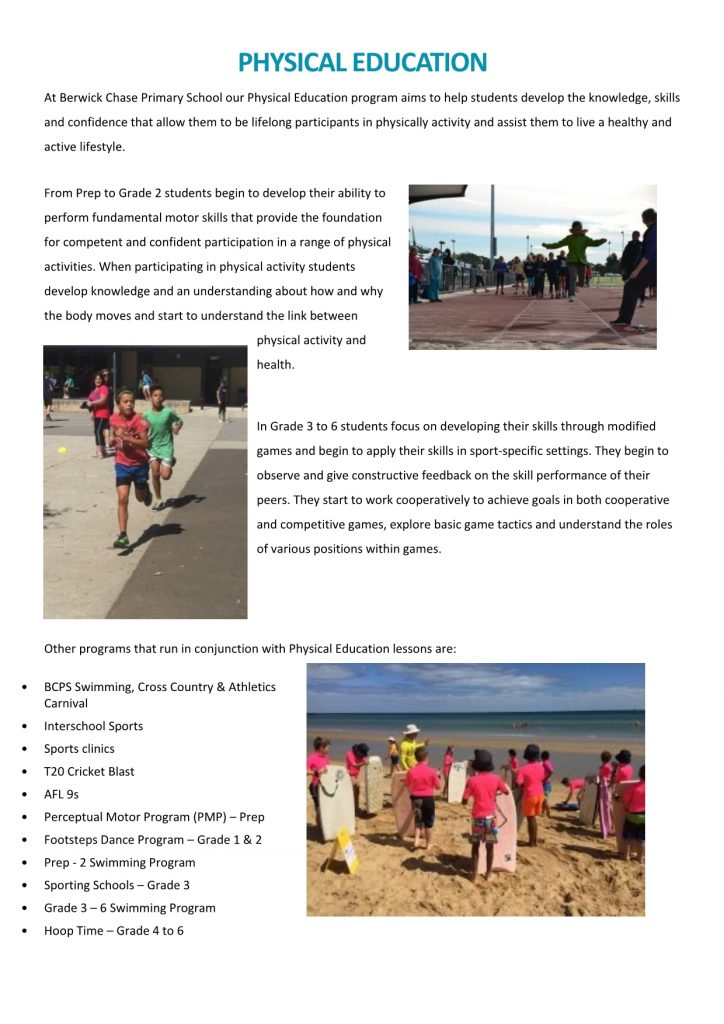 Physical Education | Berwick Chase Primary School